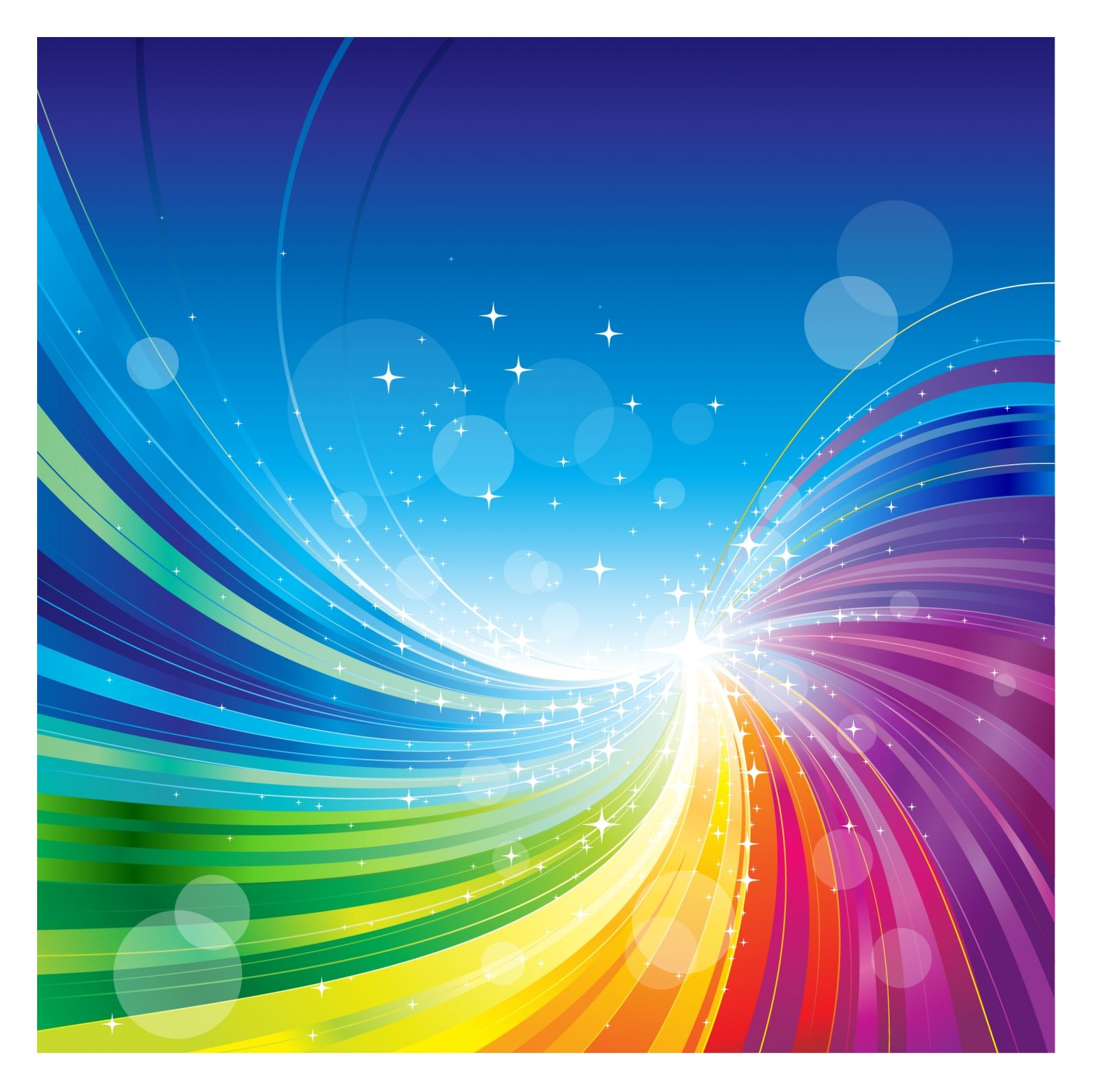 free vector Abstract rainbow colors wave background