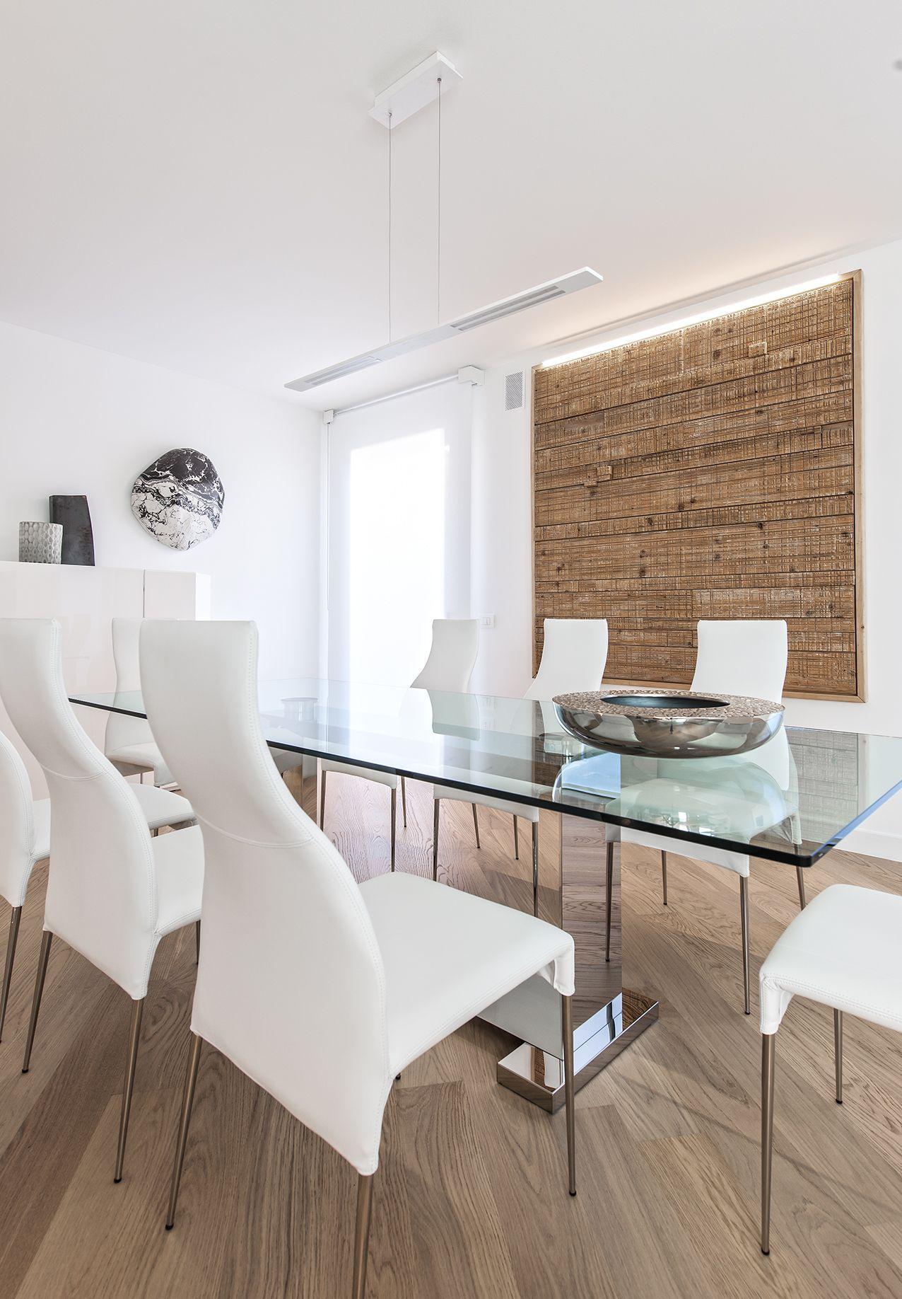 BRANDO concept sala da pranzo diningroom tavolo cristallo sedie ...