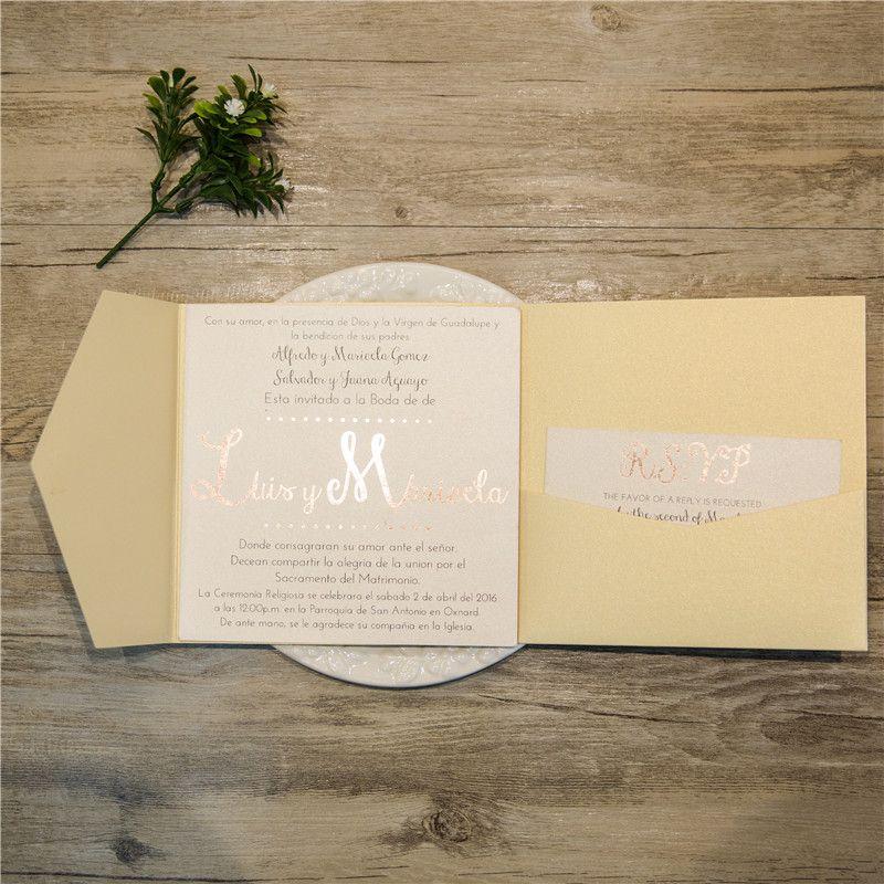 Pocket Fold Einladungen Zur Hochzeit WPFD2118