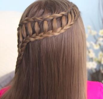 Como hacer trenzas laterales con estilo de escalera - Como hacer peinados faciles ...