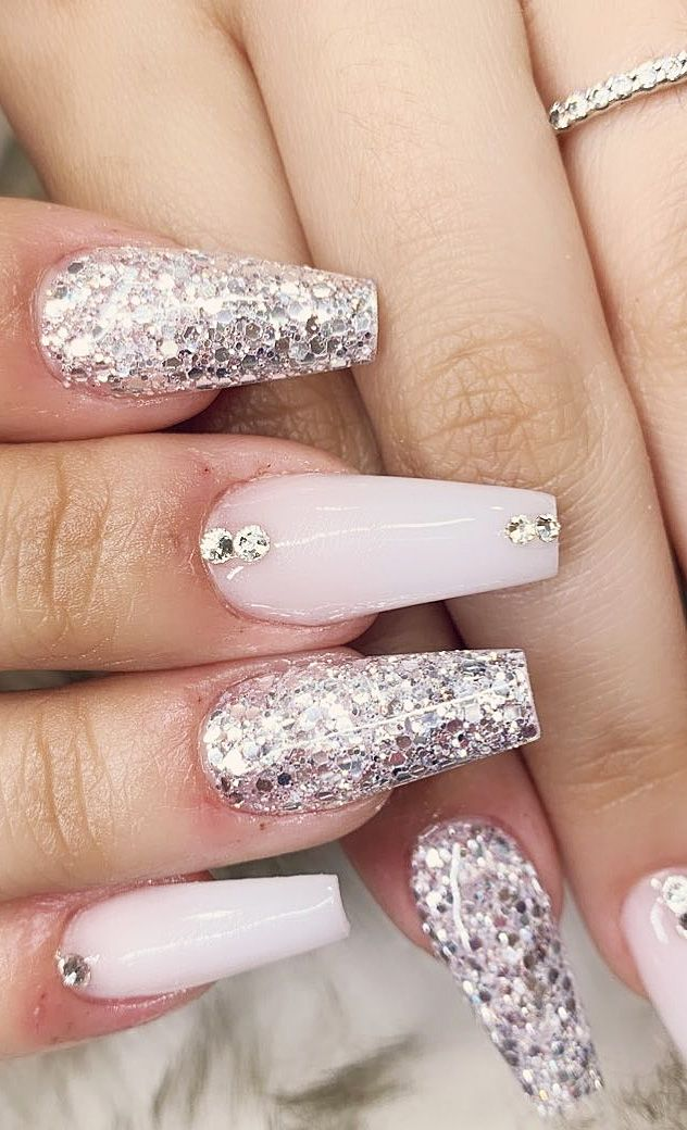 Top 100 Acrylic Nail Designs of May 2019. Web Page 45. Long Acrylic White Nails Design.