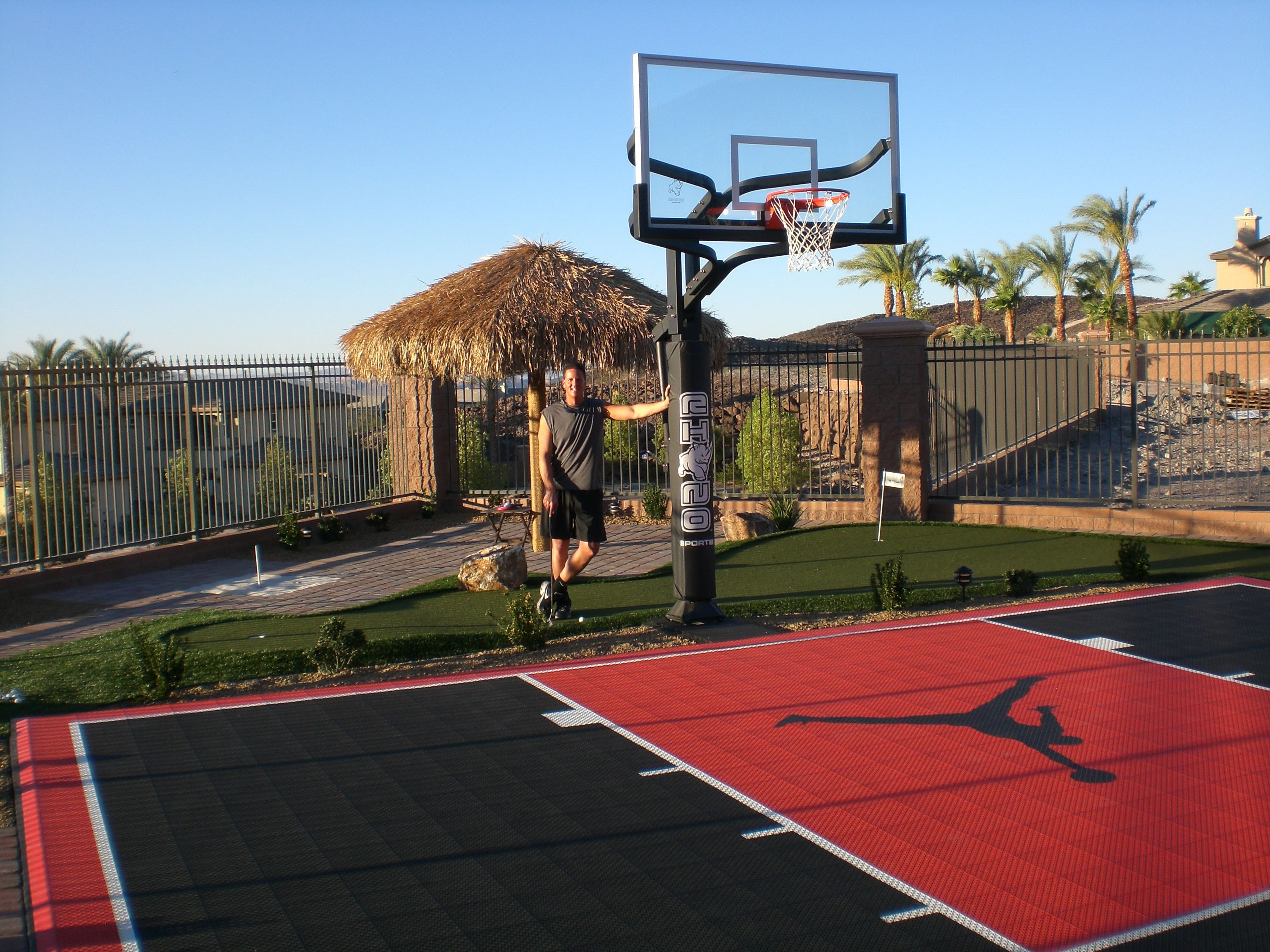 Jamesmalinchak big money speaker backyard with custom for Custom indoor basketball court