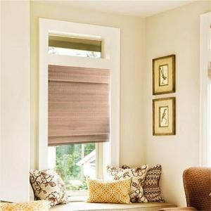 Naturesort Mocha Cordless Woven Bamboo Roman Shades, 64 in. Length-N3-B12127 at The Home Depot-27 inches wide - right length for backroom.