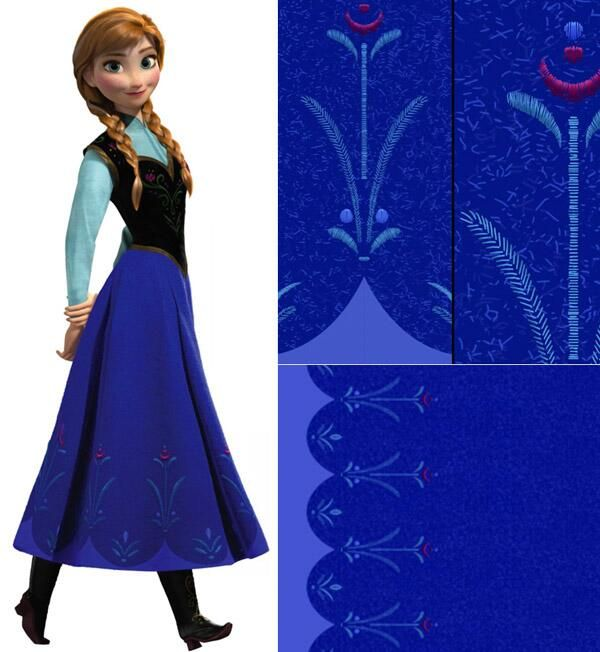 Anna From Frozen Displaying 17 Gallery Images For Blue Dress