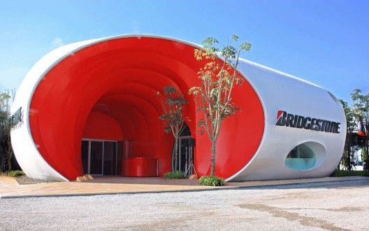Bridgestone Pavilion Architectkidd Archdaily Vias Curvas