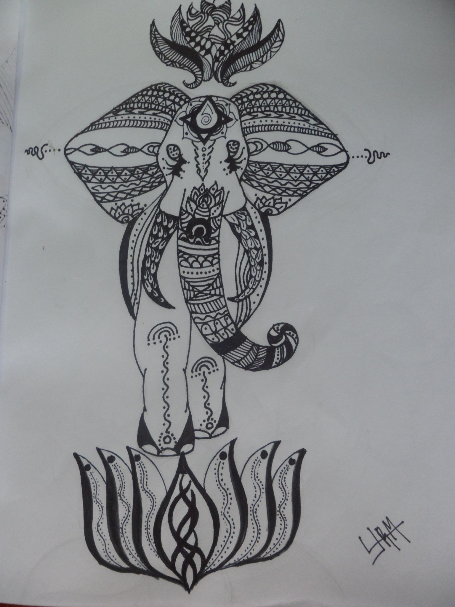 Zentangle de Elefante... by LJRM