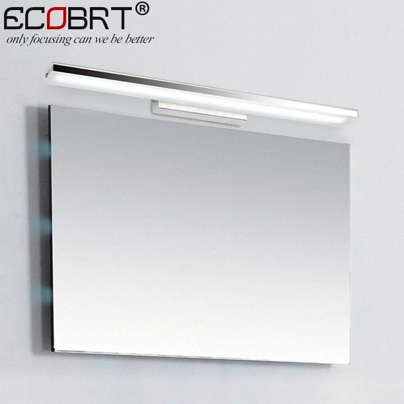 Bathroom Led Light Fixtures Over Mirror ecobrt 12w 60cm long led bathroom wall lights modern style indoor
