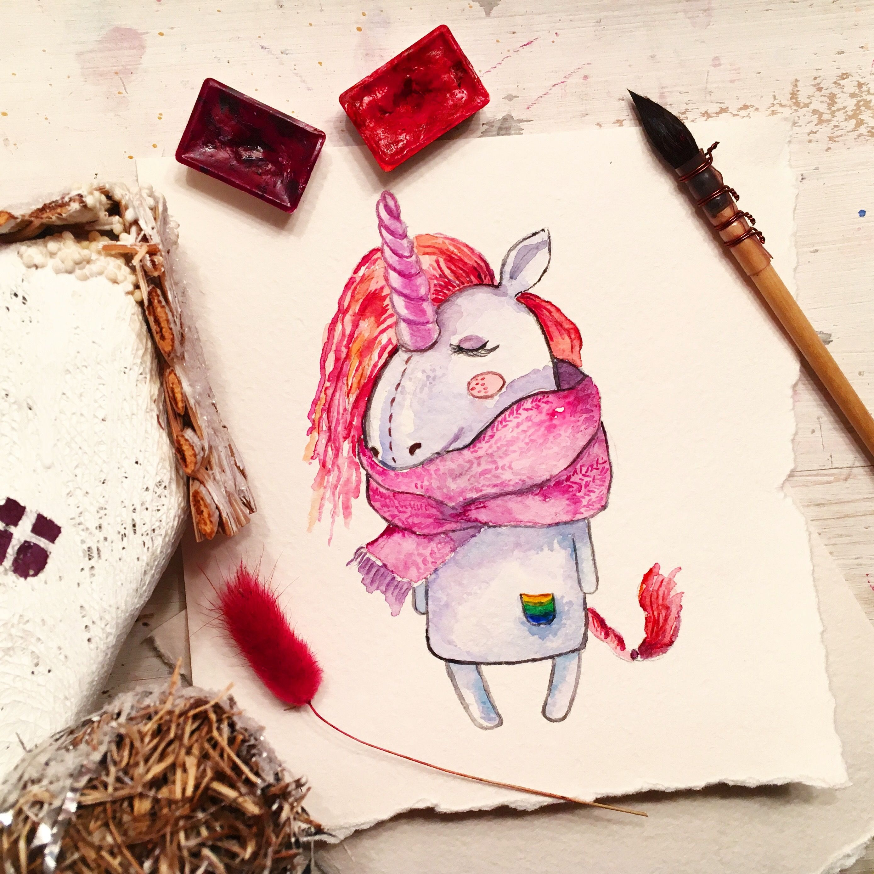 Прикольные рисунки акварельными карандашами