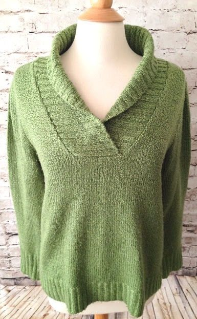 bbff6078e St Johns Bay Cowl Neck Green Sweater Size Large Acrylic Long Sleeves V-Neck  EUC  StJohnsBay  CowlNeck  Casual