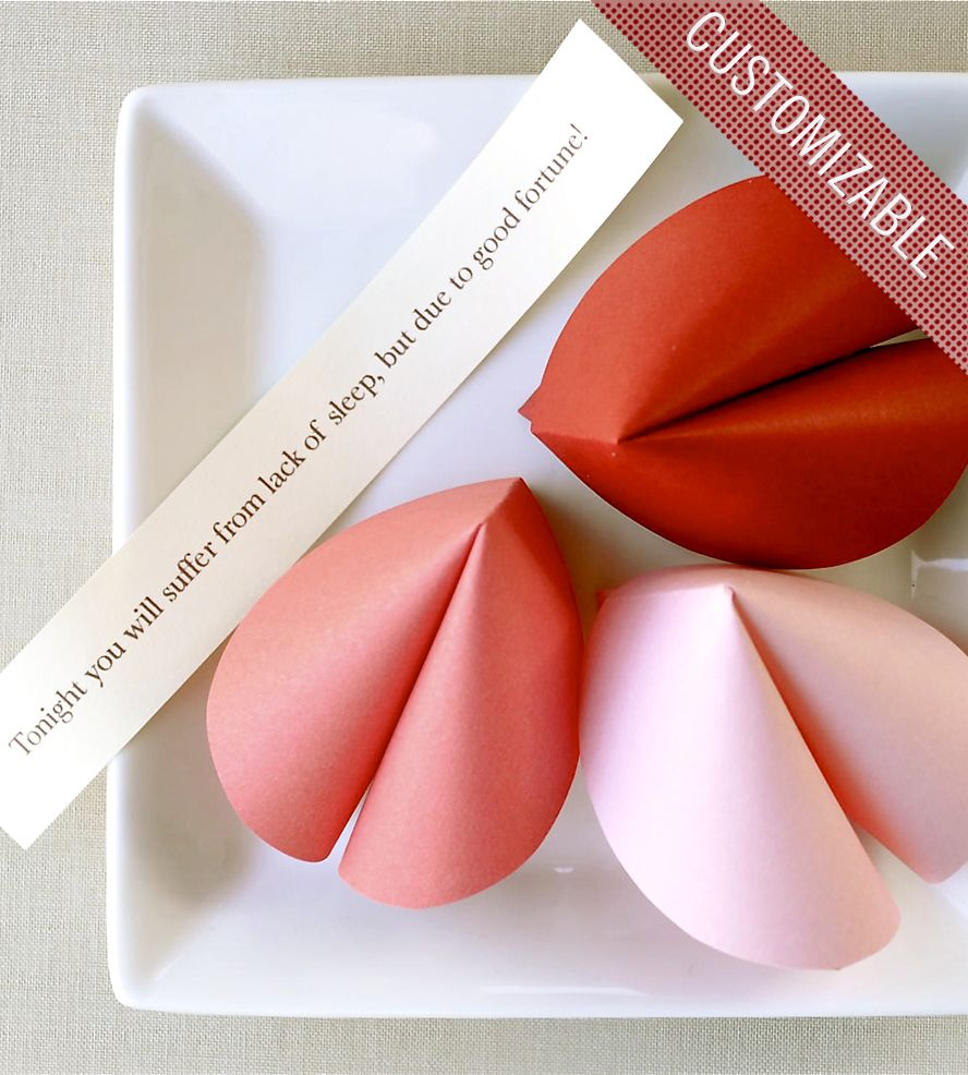 Custom Paper Fortune Cookie Favors Fortune Cookie Valentine Day Crafts Custom Paper