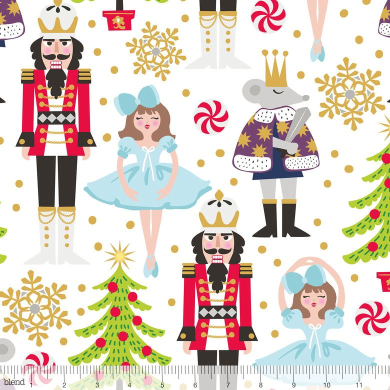 A Nutcracker Christmas Cast.Snowflake Waltz The Nutcracker Ballet Fabric Cast Characters