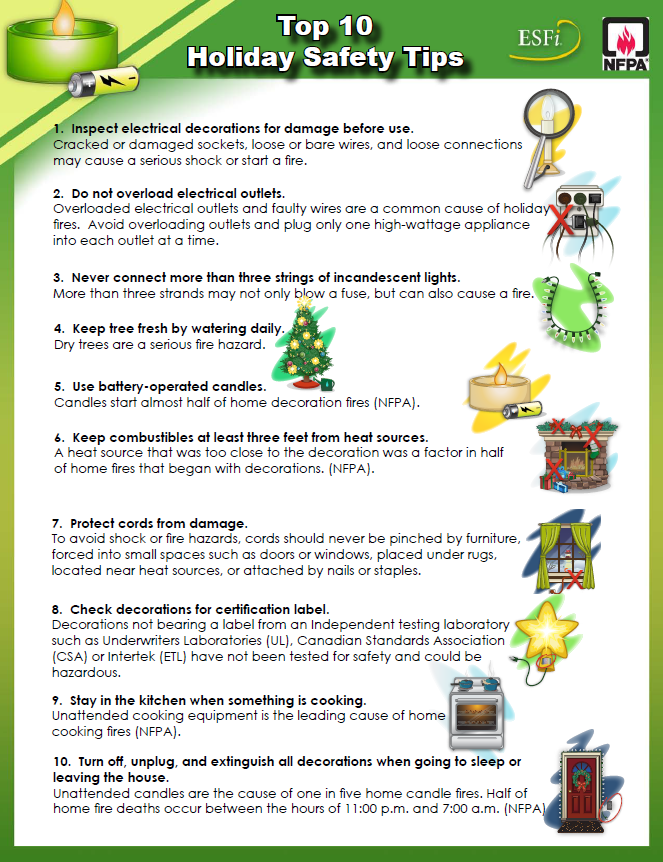 Top 10 Holiday Safety Tips Safety Tips Kitchen Safety Tips