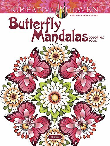 Creative Haven Butterfly Mandalas Coloring Book Adult Co