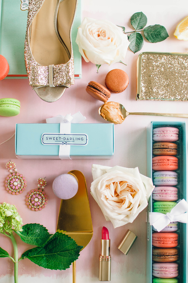 Macaron Photo Styling by Simply Jessica Marie for Sweet Darling Patisserie | Zipporah Photography