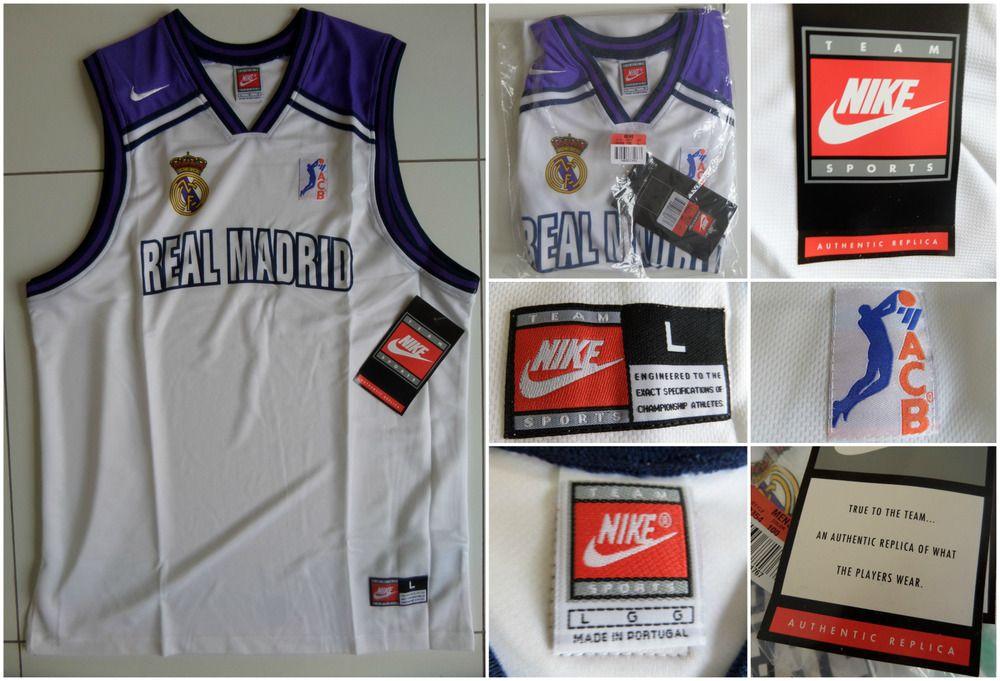 VTG 1996 NIKE REAL MADRID BASKETBALL JERSEY VEST SHIRT NBA MEN S 90 s OG DS  L  Nike  RealMadrid f629741dd