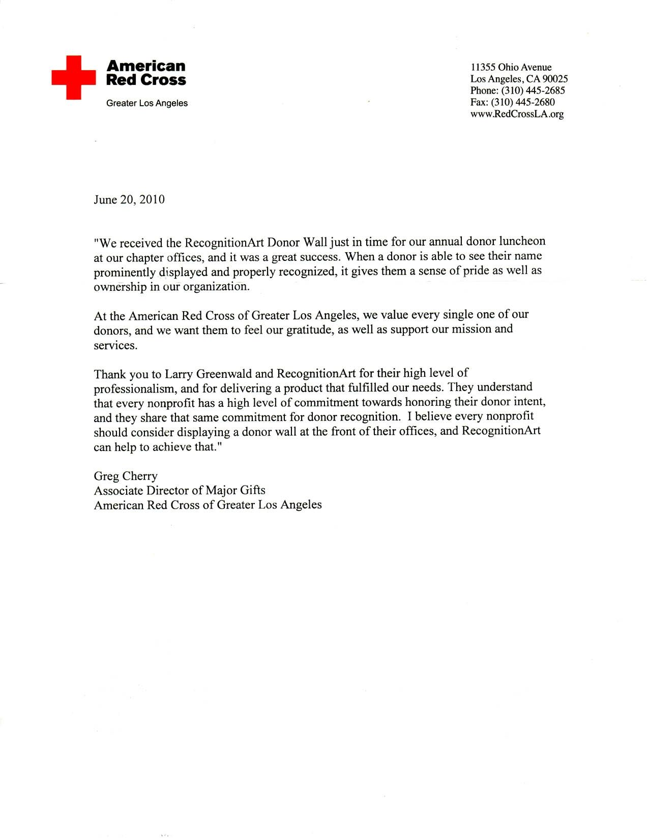 Red Cross Letter Of Recommendation Letter Of Recommendation