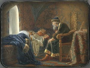 Ivan the Terrible Looking with Admiration at sleeping ...