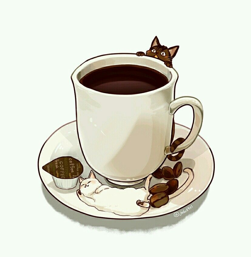Coffee illustration by t t on illustrations cute art