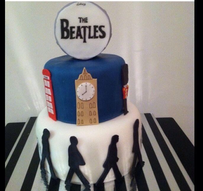 The Beatles Fan Music Abbey Road London Birthday Cake by I LOVE