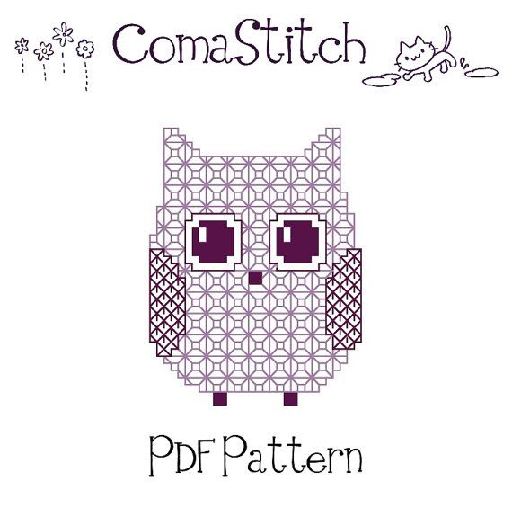 Owl Blackwork Printable Pattern PDF (Instant Download) | búhos ...
