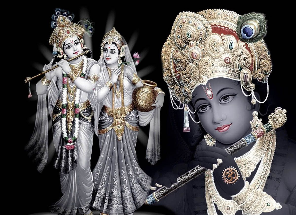 Images of lord krishna and radha in 3d