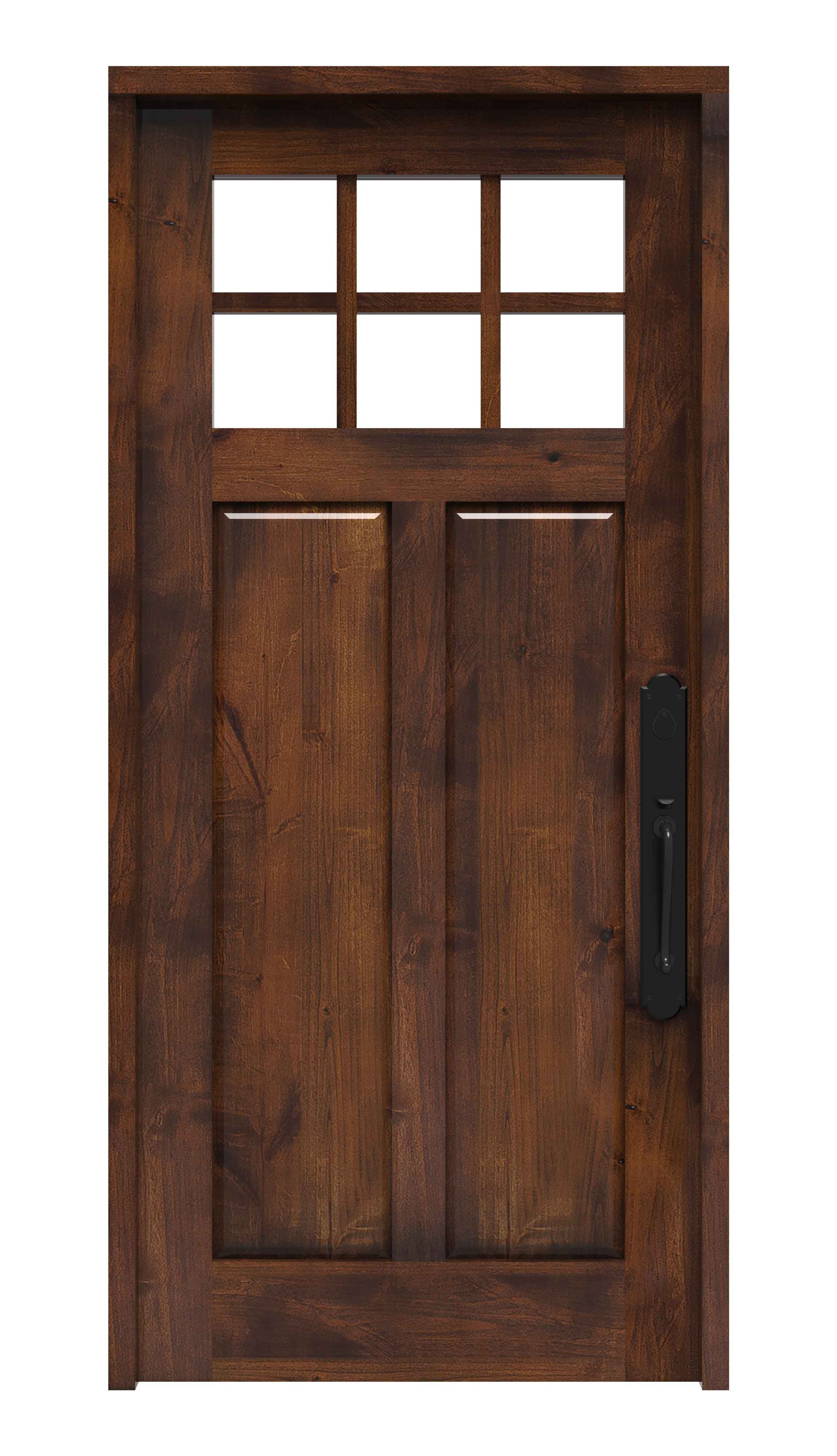 Shop Our New Shaker Front Door That Features A Balance Of Double Paned Tempered Glass And Solid Wood For A Custom Front Doors Exterior Doors Front Entry Doors