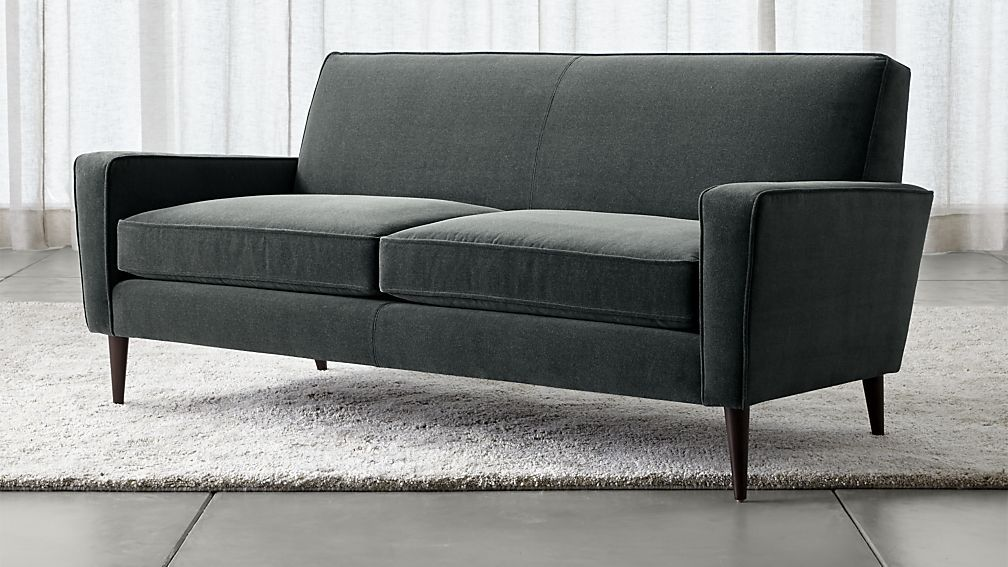Torino Velvet 2 Seat Apartment Sofa Apartment Sofa Casual