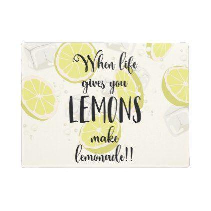 Delicieux Motivation Lemon Summer Quote Doormat