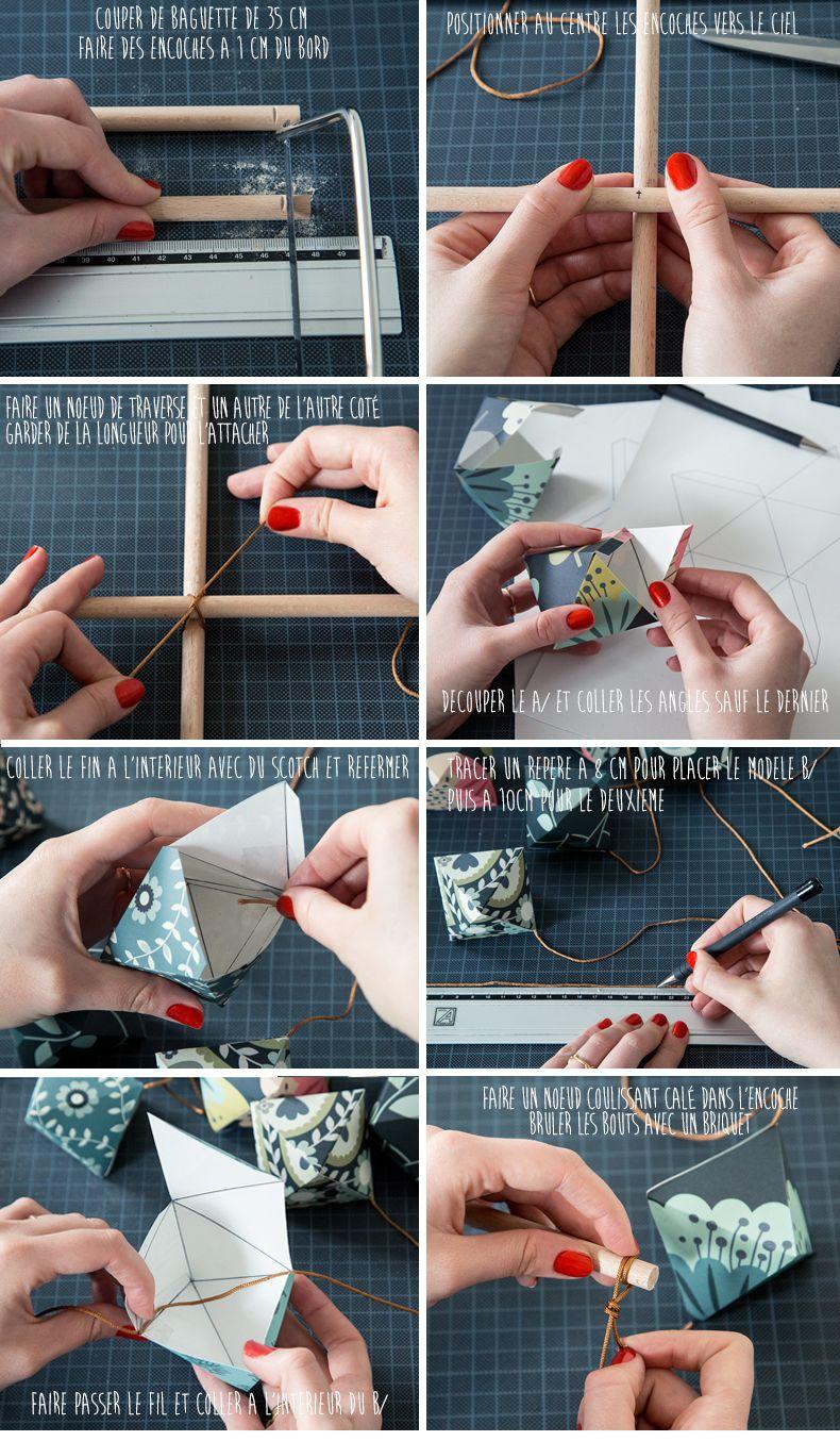 Activité Manuelle Avec Du Papier Peint diy wallpaper origami mobile tutorialmamie boude
