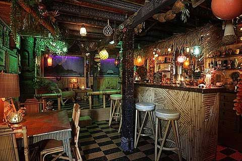 A subterranean tiki haven in echo park tiki bars tiki lounge and bamboo design - Bamboo bar design ideas ...