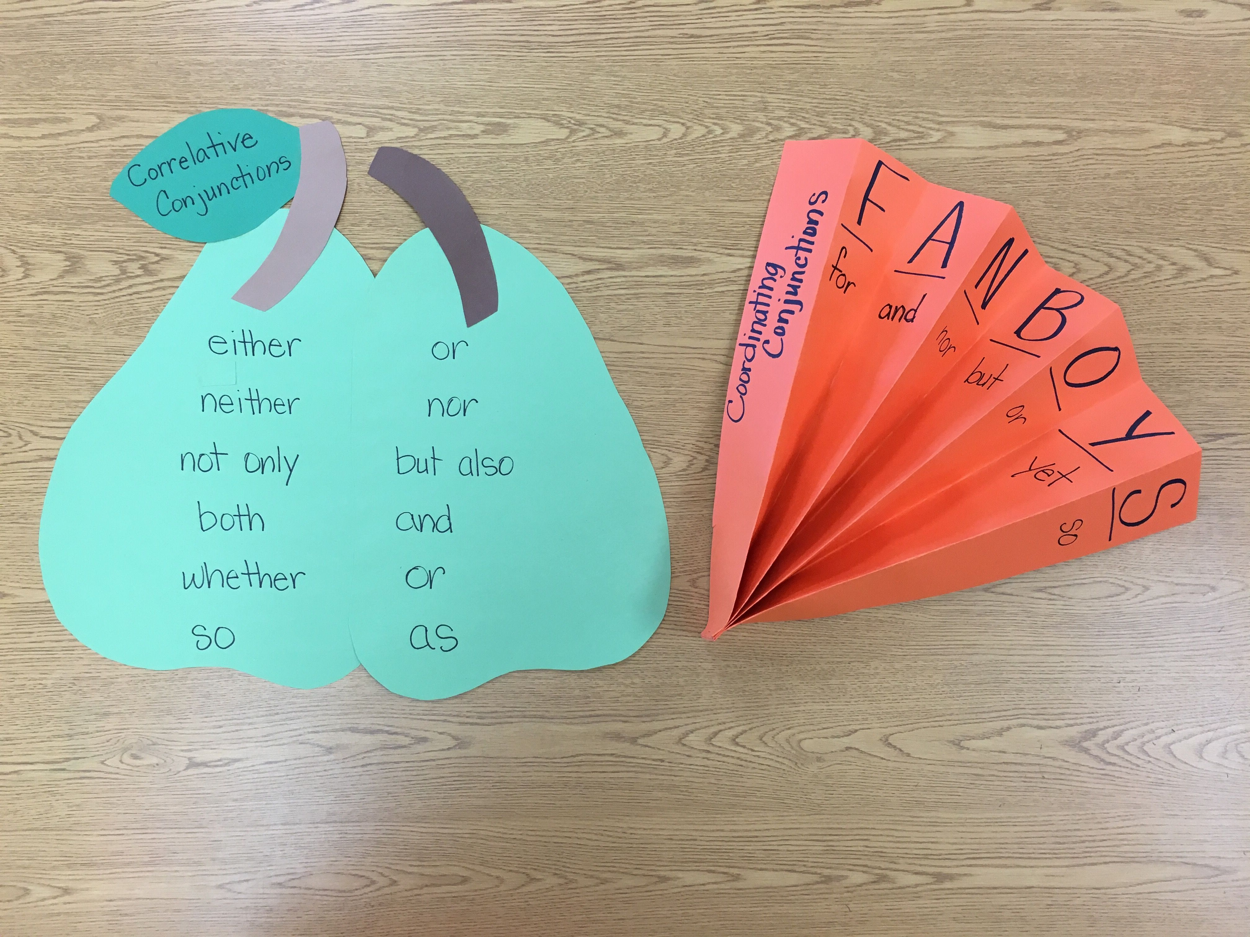 Conjunctions Help For Visual Learners