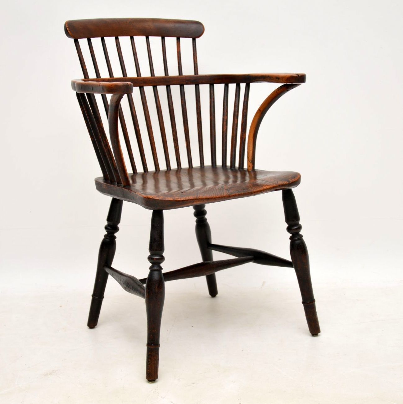 Antique Elm Spindle Back Windsor Chair Chair Upholstery Fabric For Chairs Oversized Chair Ottoman