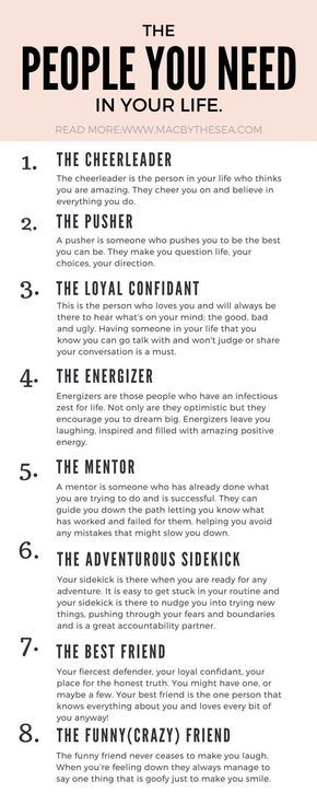 THE EIGHT FRIENDS YOU NEED IN YOUR LIFE | Mac by the sea #personalgrowth