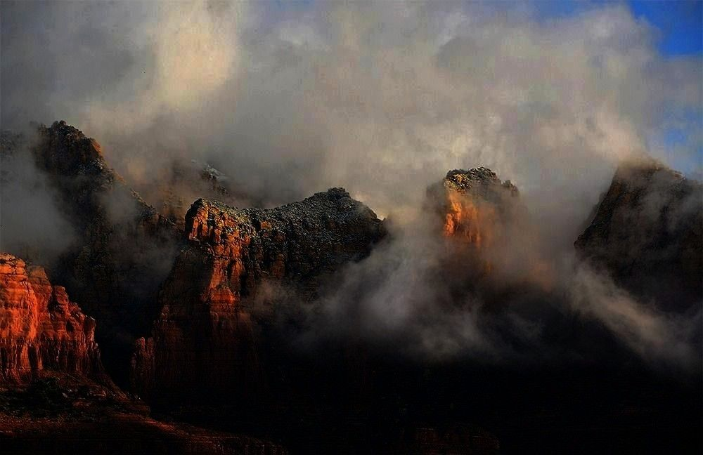 2017  Fog hovers between the iconic red  Arizona Highways January 3 2017  Fog hovers between the iconic red Arizona Highways January 3 2017  Fog hovers between the iconic...