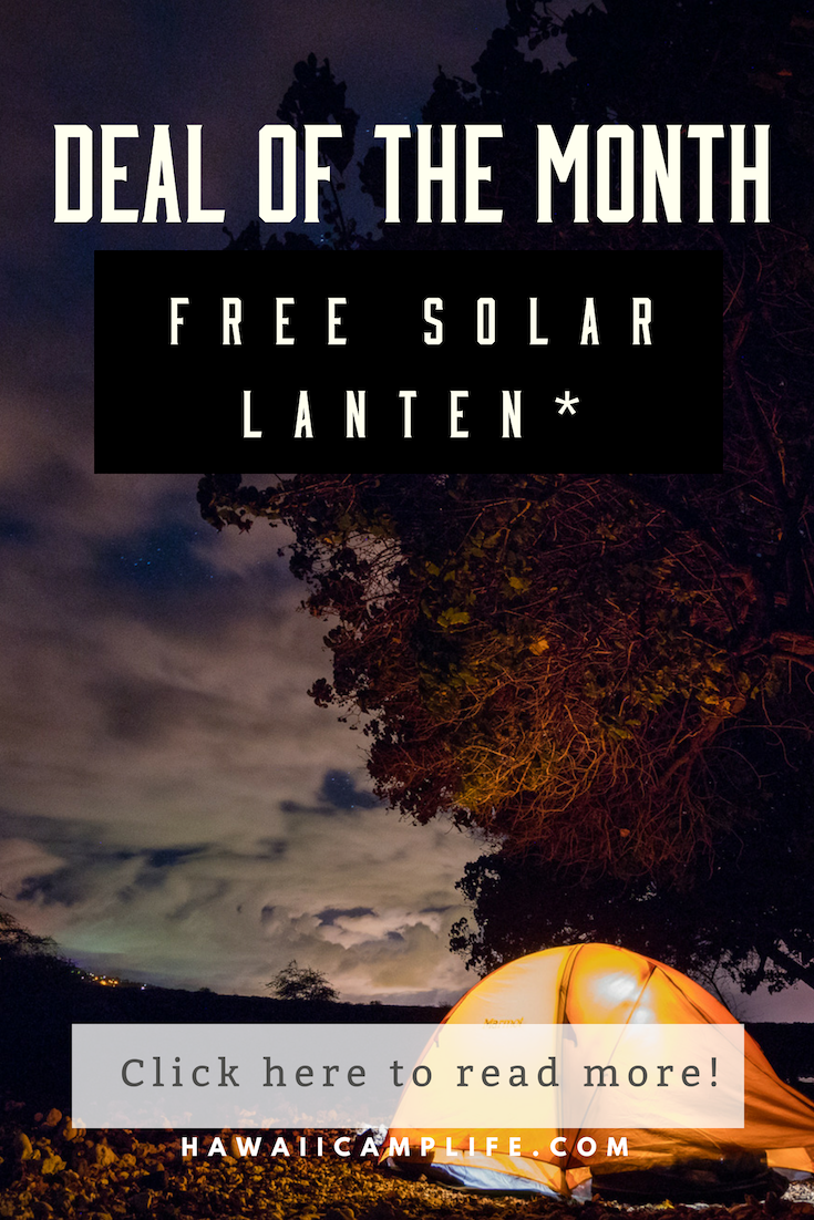 OCTOBER'S DEAL OF THE MONTH Camping life, Free solar