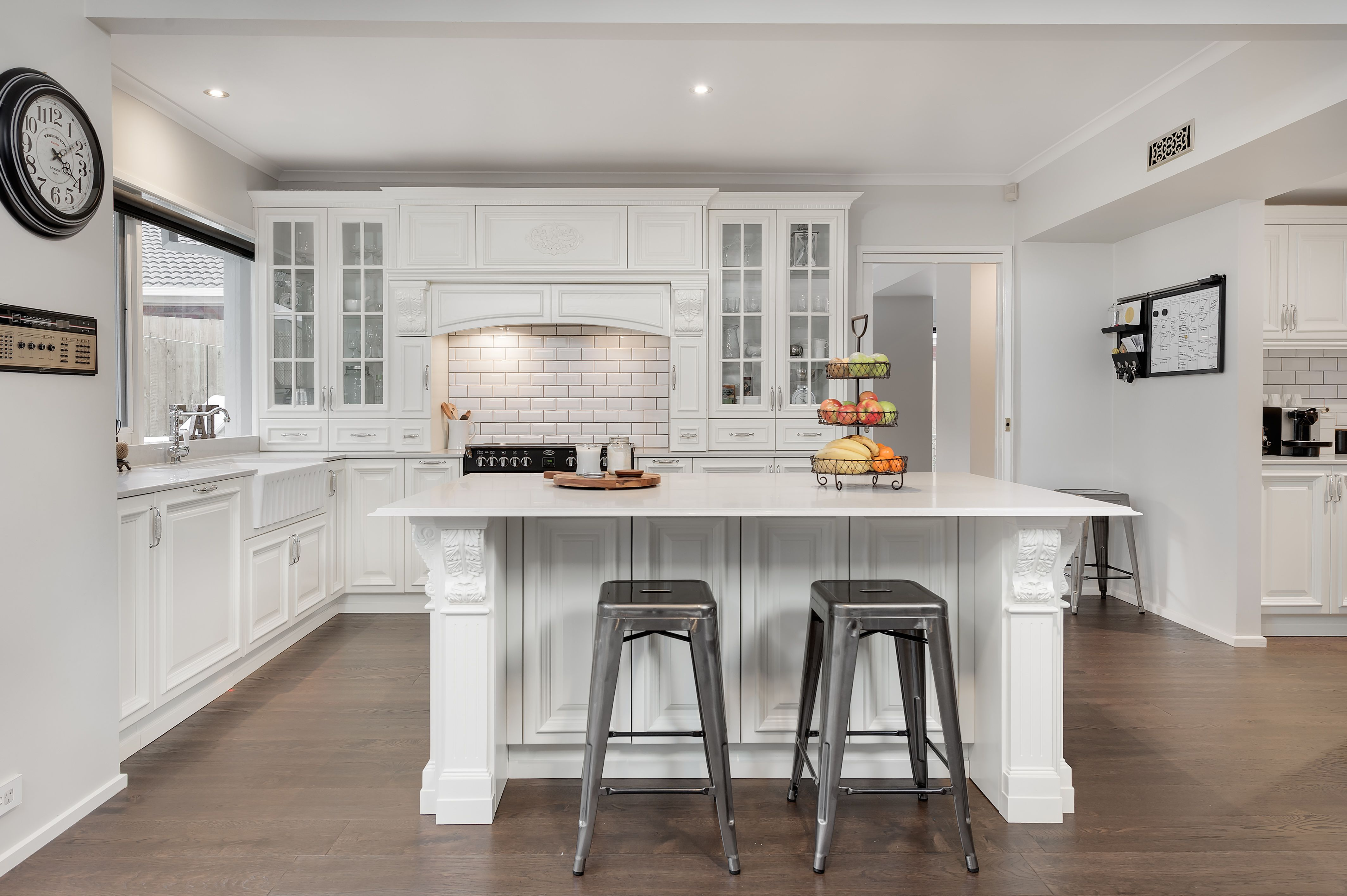 French provincial kitchen with ceramic sink. http//www