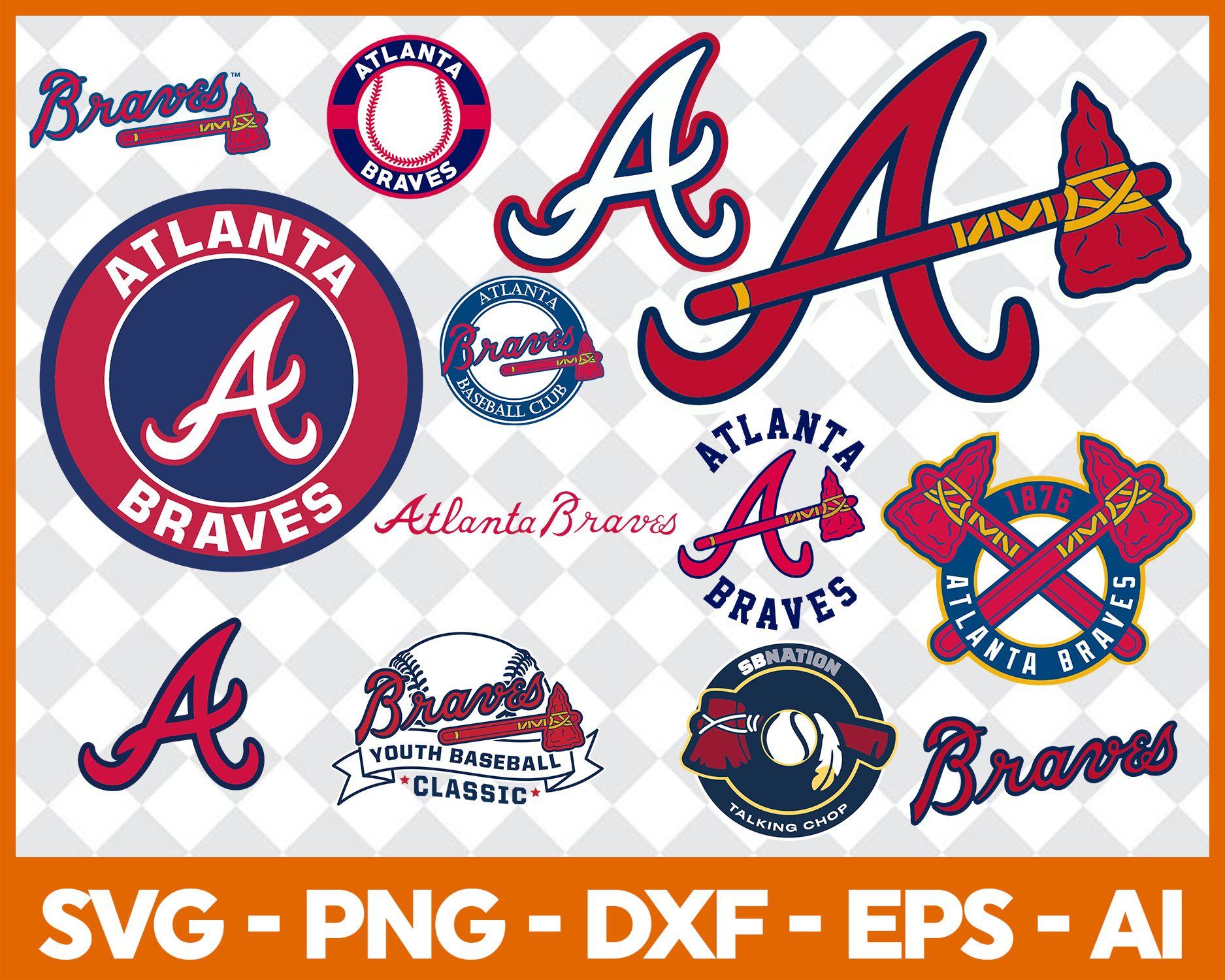 Atlanta Braves Svg Svg Files For Silhouette Files For Cricut Svg Dxf Eps Png Instant Download In 2020 Atlanta Braves Braves Baseball Svg