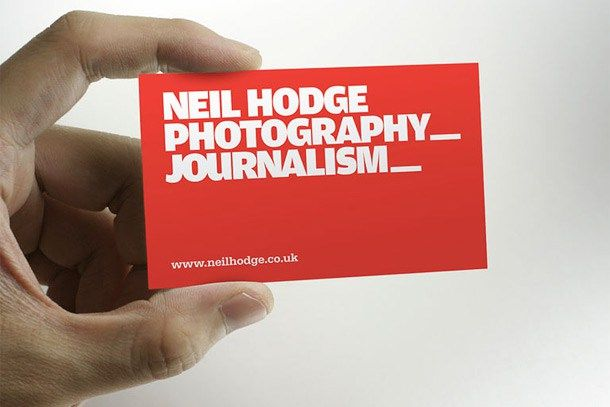 27 great examples of journalist business card design http