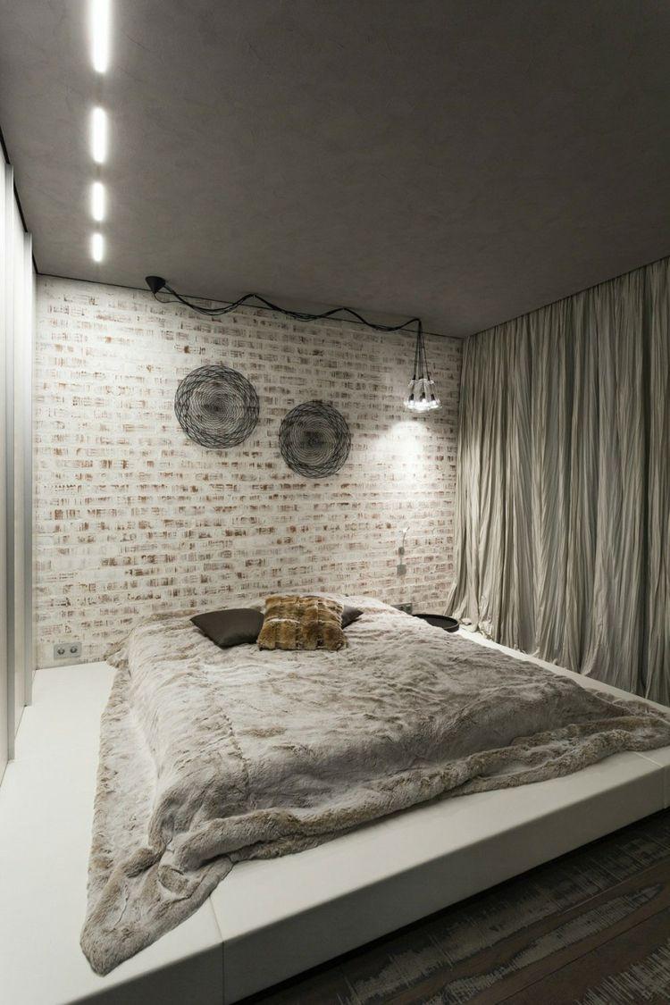 Wohnung Einrichten Stil die wohnungs einrichtung im schlafzimmer besitzt einen loftähnlichen