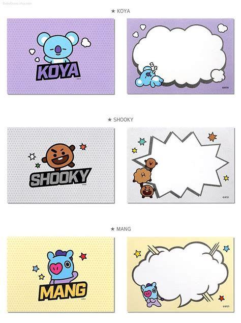 BT21 Memo Pad Pop / BTS Notepads Speech Bubble / K-POP