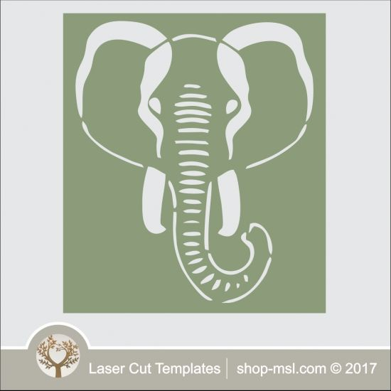 Product Elephant head stencil template, online design store for - elephant cut out template