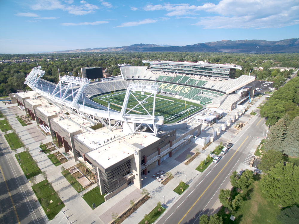Canvas Stadium Caa Icon Stadium Colorado State University Rams Football