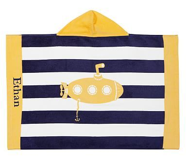 Classic Rugby Submarine Baby Beach Hooded Towel Baby