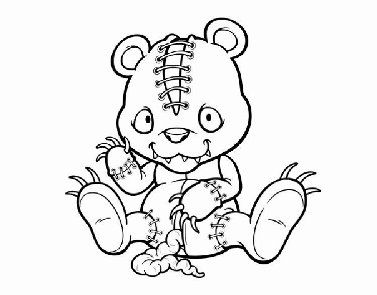 Scary Bear Coloring Pages Scary Coloring Pages Bear Coloring Pages Halloween Coloring Pages