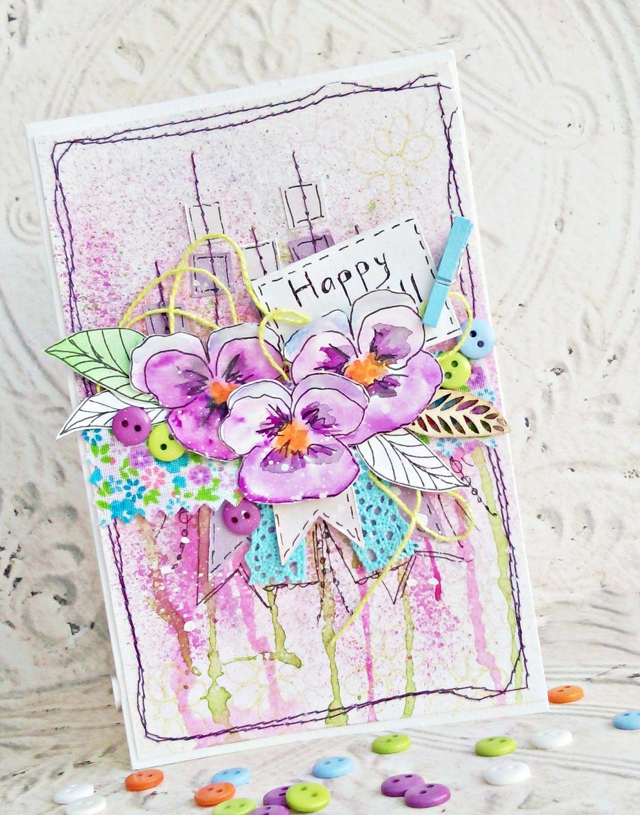 Нарисованные своими руками открытки с юбилеем