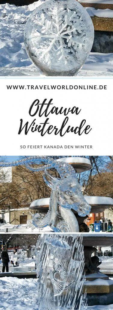 Ottawa Winterlude 2020 : Eisskulpturen und Schlittschuhlaufen #travelnorthamerica