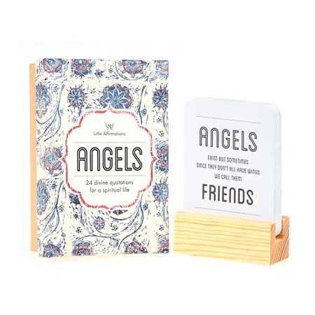 Don't miss out on Angels – a Moroccan inspired gift box containing 24 Divine quotations. Perfect daily reminders of the meaning of life. Lovingly handcrafted to appeal to the gypsy living within us all. Refreshing and insightful, keep Angels on your desk or bedside table and discover a new quote each day.