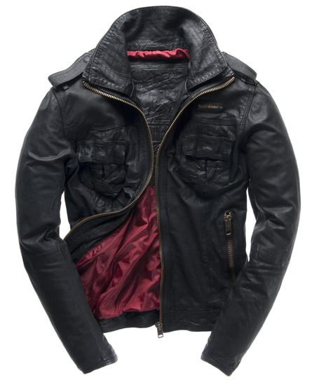 f76a52edd Really wanna like this...Superdry Ryan Leather Jacket - Men's ...