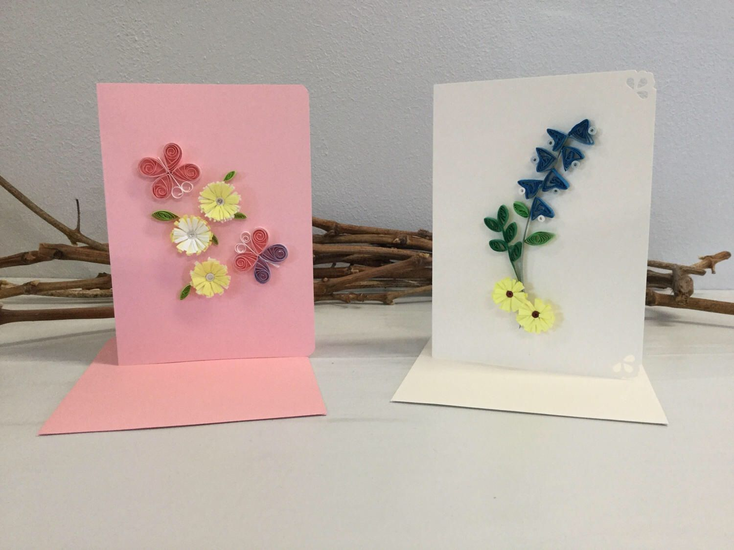 Quilled Note Cards Floral Blank Quilled Cards Paper Quilling