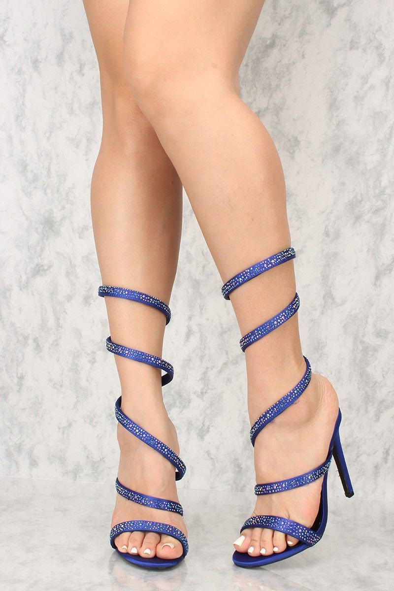 ef3f0aa0bd9d Buy Sexy Blue Coil Rhinestone Single Sole High Heels with cheap price and  high quality Heel Shoes online store which also sales Stiletto Heel  Shoes
